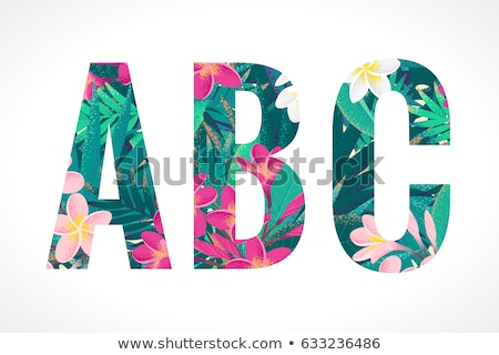 tropical lettering stock photo © solarseven