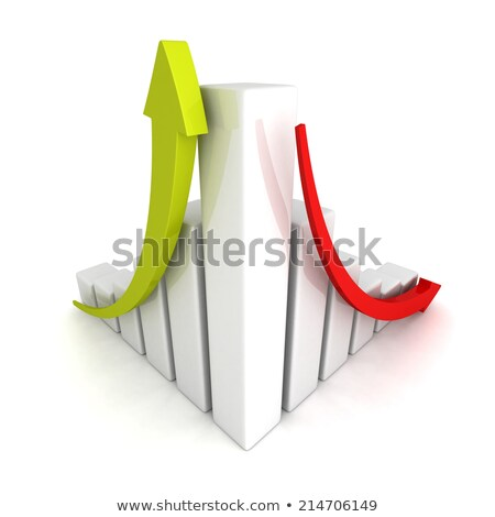 cycle graph. Up and down business arrow chart Stock photo © alexmillos
