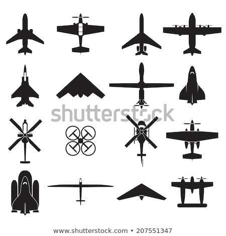 Set of Military Aircraft Vector Illustrations Stock photo © robuart
