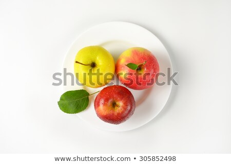 washed red apple on plate Stock photo © Digifoodstock