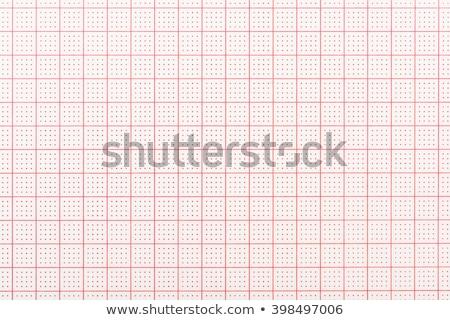 Сток-фото: ЭКГ · запись · бумаги · красный · формы · сердца · компьютер