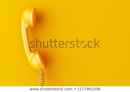 赤 · 電話 · 電話 · 手 · セット - ストックフォト © albund