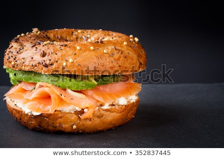 сэндвич · лосося · тоста · приготовления · каменные · Top - Сток-фото © m-studio