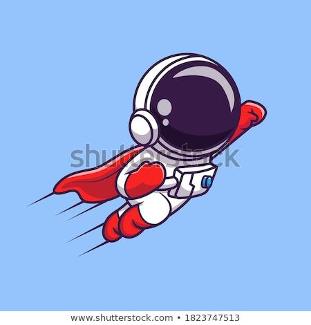 astronauta · flutuante · espaço · projeto · estrelas · noite - foto stock © curiosity