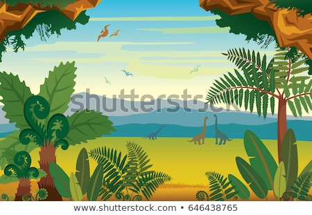 prehistoric landscape with dinosaurs.  Stock photo © curiosity