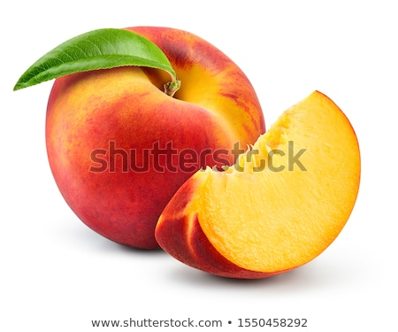 Fresco pêssego sobremesa agricultura dieta cortar Foto stock © M-studio