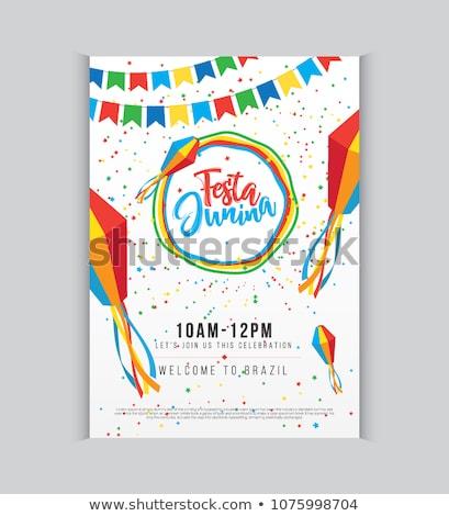 Meghívó poszter terv háttér jókedv ünneplés Stock fotó © SArts