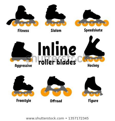 Inline skate types, set I Stock photo © sahua