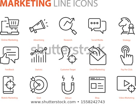бизнеса маркетинга иконки современных торговли Сток-фото © Genestro