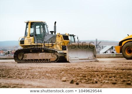 Buldozer rutier constructii de drumuri maşini constructii construcţie Imagine de stoc © biv