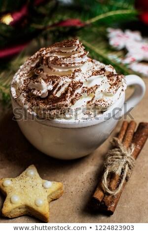 kaneel · koffiekopje · koffie · drinken · zwarte · beker - stockfoto © m-studio