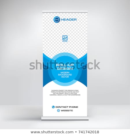 rollup design template vertical standee Stock photo © SArts