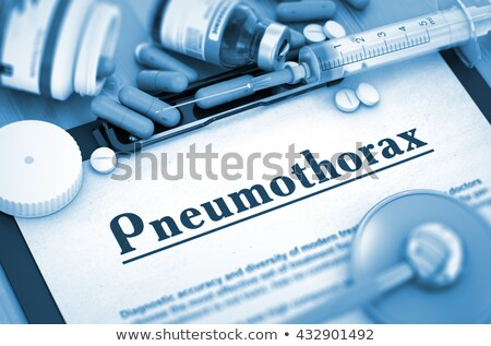 Diagnosis - Pneumothorax. Medicine Concept. 3D Illustration. Stock photo © tashatuvango
