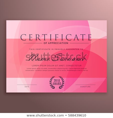 clean certificate of excellence template design Stock photo © SArts