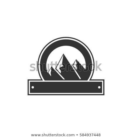 vintage · marco · forma · forma · logo · etiqueta - foto stock © jeksongraphics