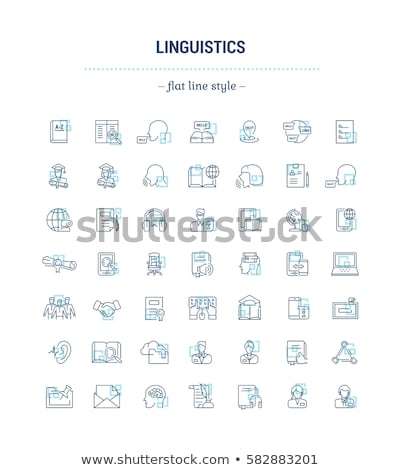 concept of language learning icon  Stock photo © Olena