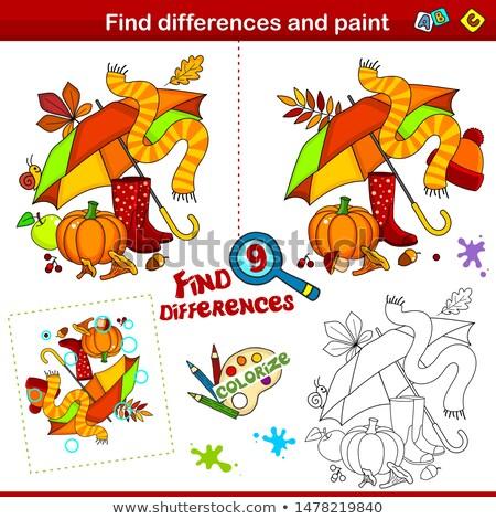 oyun · bulmak · farklılıklar · saksofon · çocuklar · yetişkin - stok fotoğraf © olena