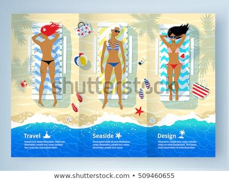 Stok fotoğraf: üst · görmek · örnek · üç · plaj