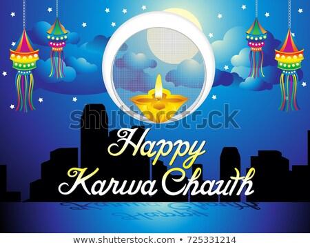 abstract artistic karwa chauth background Stock photo © pathakdesigner