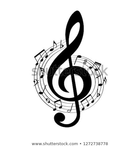 Draw a treble clef. Stock photo © Olena