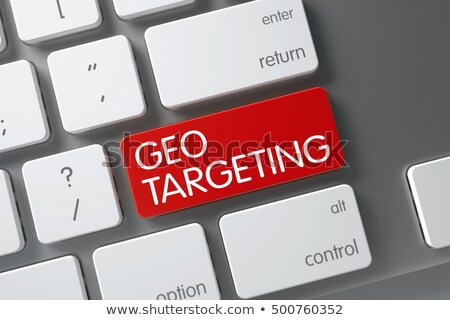 keyboard with red keypad   geo targeting 3d stock photo © tashatuvango