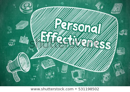 personal effectiveness   doodle blue word business concept stock photo © tashatuvango