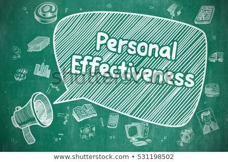 Сток-фото: личные · эффективность · болван · синий · слово · бизнеса