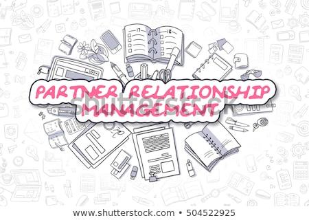 партнера · отношения · управления · Бизнес-партнер · зеленый · стрелка - Сток-фото © tashatuvango
