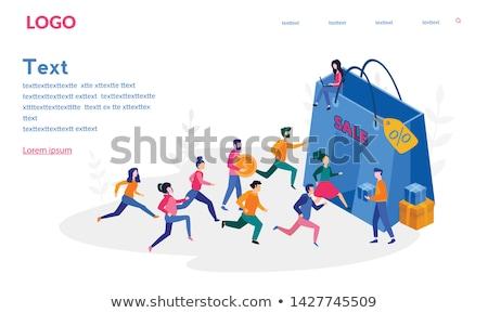 Personas ejecutando prisa tienda venta jóvenes Foto stock © RAStudio