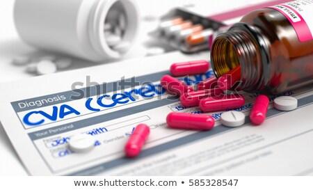 Diagnózis sértés gyógyszer 3d illusztráció orvosi elmosódott Stock fotó © tashatuvango