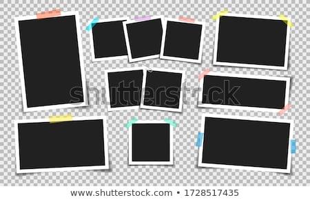 valósághű · illusztráció · szett · fényképkeret · művészet · űr - stock fotó © robuart