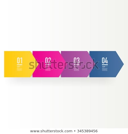 4 Step Process Flow Corporate Info-graphic Vector Stock photo © jeff_hobrath