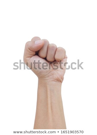 Fist isolated Punch man's hand on white background Stock photo © popaukropa