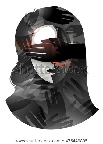 Girl Visual Censorship Stock photo © lenm