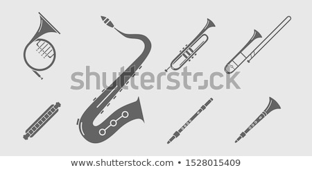 Tuba fransız boynuz enstrüman pop art Retro Stok fotoğraf © studiostoks