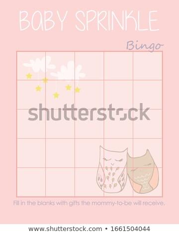 Corujas bingo formas jogo Foto stock © Olena