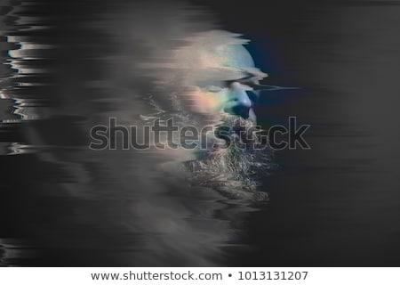Barbuto calvo uomo immagine ritratto nero Foto d'archivio © magann