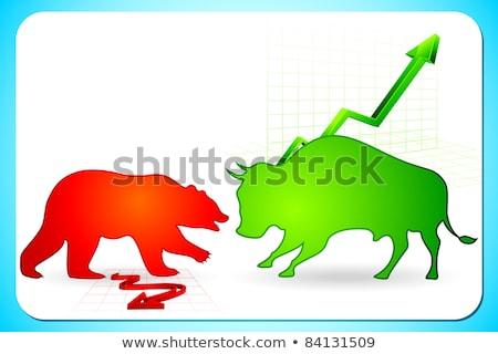 beer · stier · computer · gegenereerde · 3d · illustration · financieren - stockfoto © sarts
