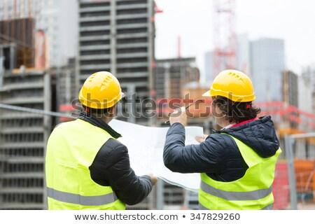 iki · mavi · mimari · düşünmek · profesyonel · erkek - stok fotoğraf © is2