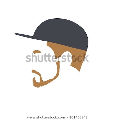 Stockfoto: Logo · rapper · cap · vector · illustratie