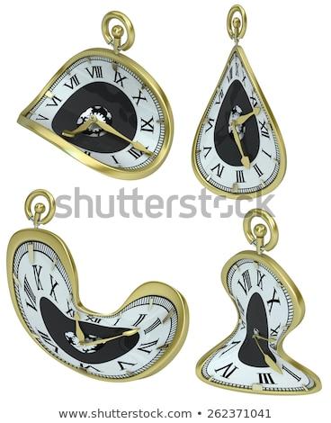 Set of 4 golden alarm clocks Stock photo © pakete