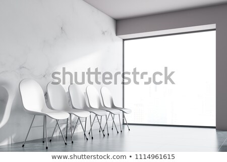 Rows of empty white chairs Stock photo © IS2
