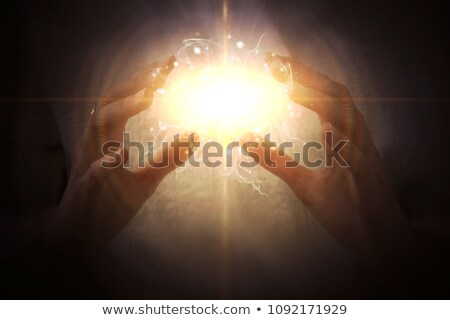 Colorful Hands Energy Flow Stock photo © lenm