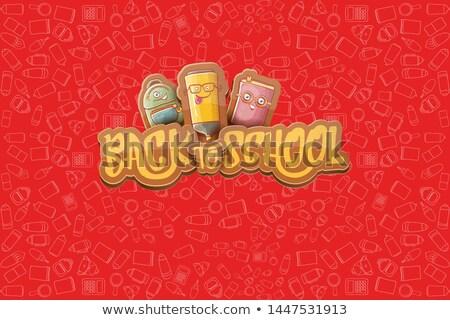 vector · autobús · escolar · ninos · nina · carretera · escuela - foto stock © krisdog