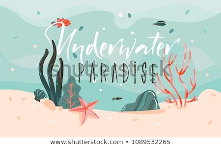 Syrena morza piękna fantasy mit czarny Zdjęcia stock © Kakigori