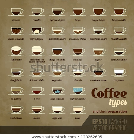 Set types of coffee. Info-graphic Stock photo © FoxysGraphic