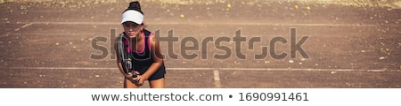 Girl tennis player Stock photo © IS2
