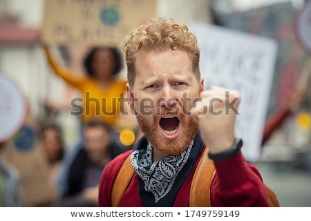 Men of politics are fighting on planet Earth Stock photo © studiostoks