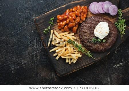 Pide sokak yemek hızlı Burger yemek Stok fotoğraf © glorcza