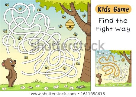Rajz oktatás labirintus labirintus játék gyerekek Stock fotó © Natali_Brill